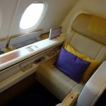 タイ航空 A380 ファーストクラス 搭乗記 成田→バンコク
