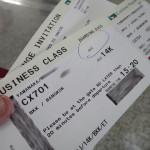 キャセイパシフィック航空 CX701 ビジネスクラス 搭乗記 香港→バンコク